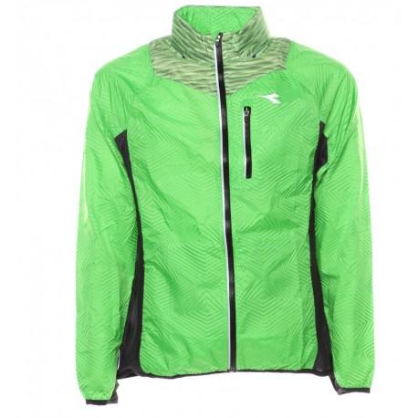 big sale dec6b 17185 Diadora Giacca Run Bright Green Fluo Special