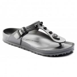 Birkenstock Sandalo Donna Gomma Gizeh Borchie Grigio