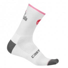 Castelli Calze Giro 12 Bianco/Rosa