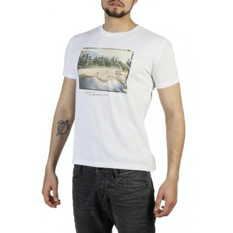 Think Pink T-Shirt Stampa Bianco