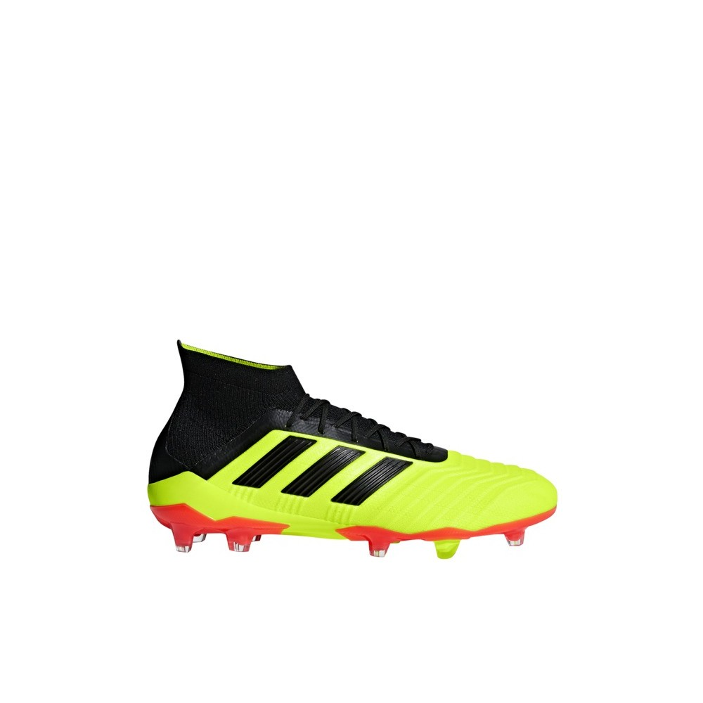 Scarpe Calcio Adidas Predator 18.1 Primeknit FG Uomo Nero