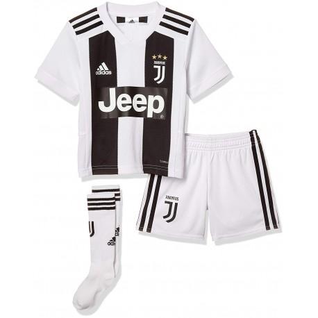 watch 90ca7 5898b Adidas Set Bambino Juve Mini Home Nero Bianco