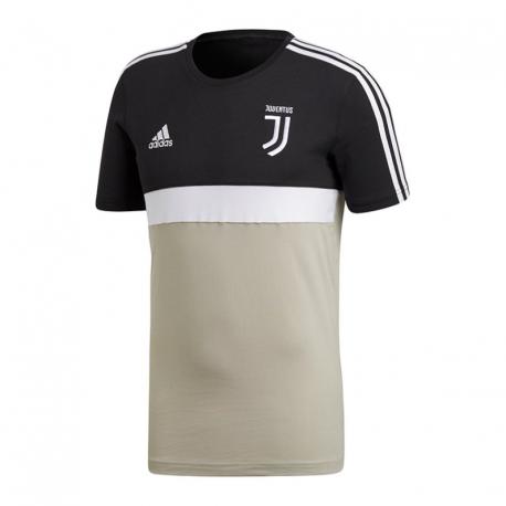 Calcio Adidas T-Shirt Mm Juve Stripes Nero Beige Uomo CW8785 - Acqu... 876467500ec1