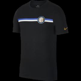 Nike T-Shirt Mm Inter Crest Nero