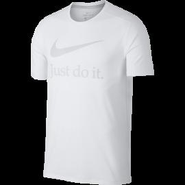 Nike T-Shirt Run Mm Gx  White/Vast Grey