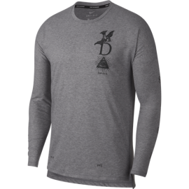 Nike Shirt Run Ml Tailwind Gx  Gunsmoke