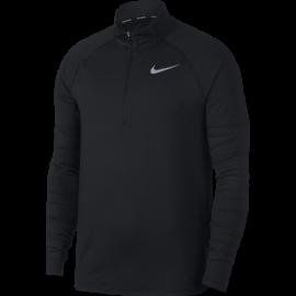 Nike Shirt Run Ml H/Zip Elmnt  Black