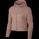 Nike Hoodie Donna Run F/Zip Elmnt  Rust Pink/Htr