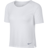 Nike T-Shirt Donna Run Mm Miler Top Breathe  White/Htr