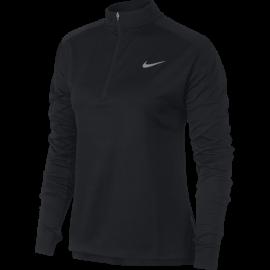 Nike Shirt Donna Run Ml H/Zip Pacer  Black