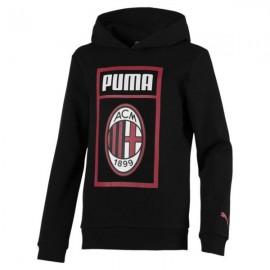 Puma Felpa Bambino Fan C/Cap Milan Nero
