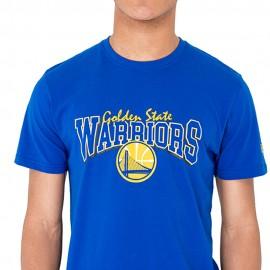 New Era T-Shirt Mm Nba Golden State  Blu/Giallo