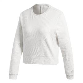 Adidas Felpa Climalite Performance Bianco Donna