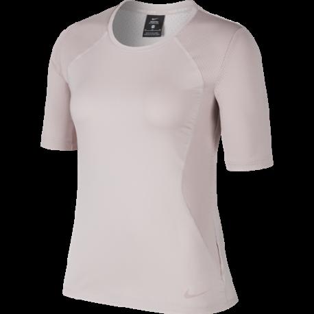 Camiseta De Manga Para Rosa 889618 6 Gimnasio Mujeres Hypercool Nike Corta 80PXnOkw