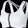 Nike Reggiseno Sportivo Zip Bianco Donna