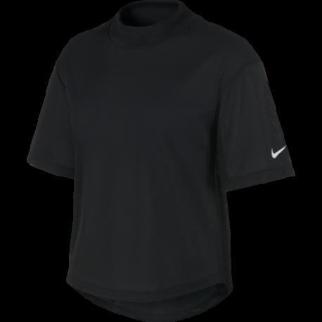 Nike Maglia Manica Corta Dry Mesh SS Nero Donna