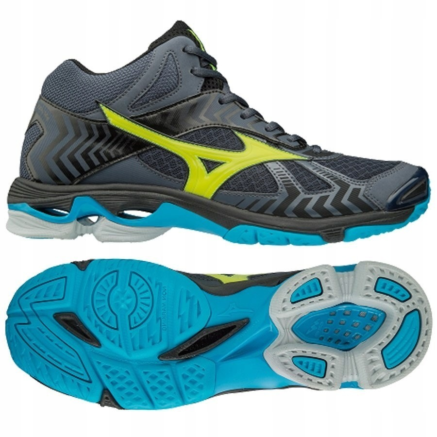 Mizuno WaveBolt 4 Mid white blue scarpa da pallavolo m