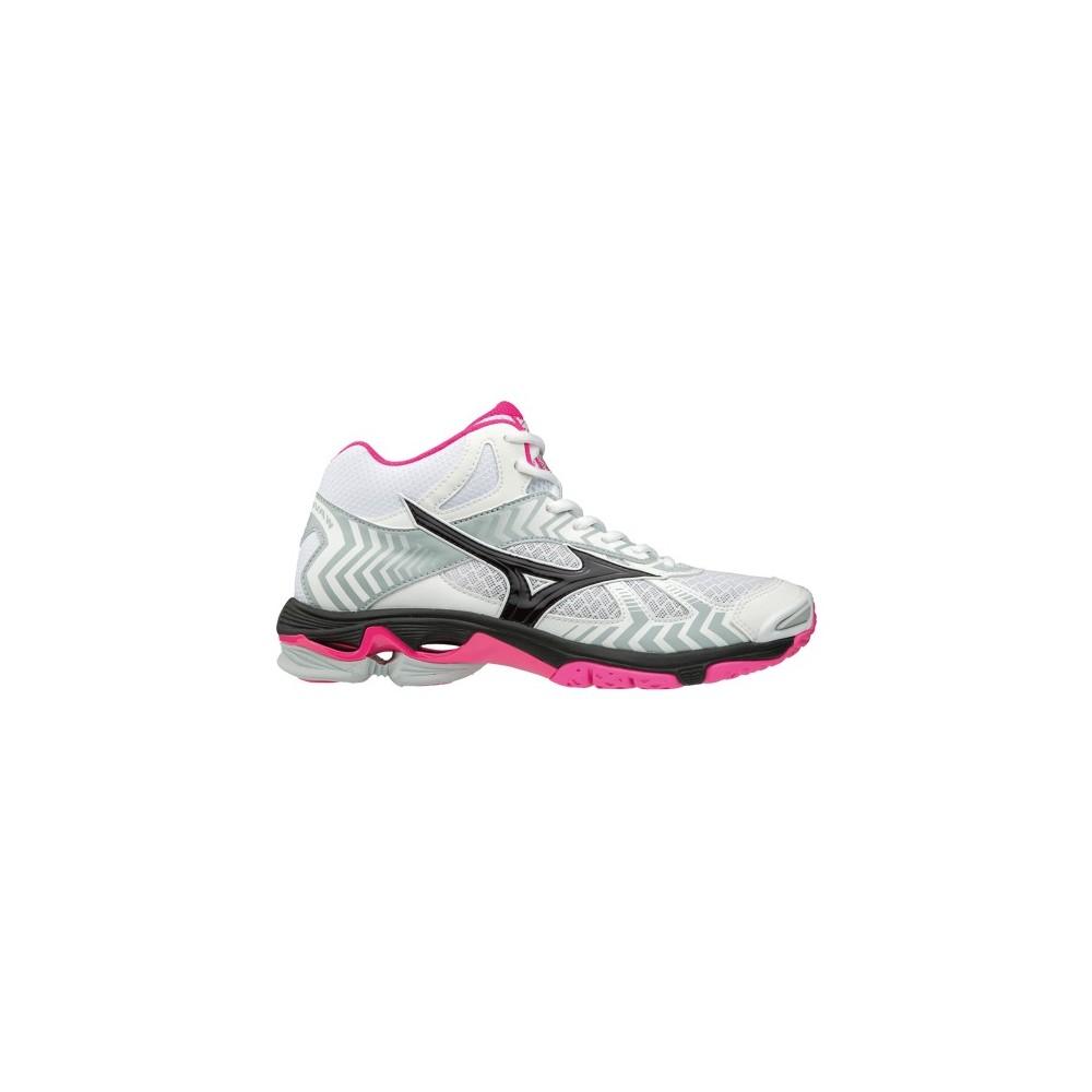 ad64b1fd2e584 Pallavolo Mizuno Wave Bolt 7 Mid Bianco Rosa Donna V1GC186564 - Acq...