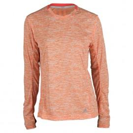ADIDAS t-shirt ml run supernova donna solar red