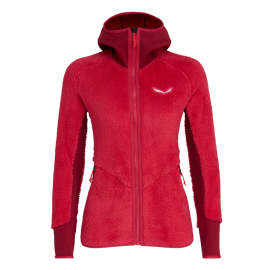 Salewa Giacca In Pile Puez Rosso Donna