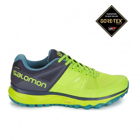 pretty nice 38984 2f5b9 Trekking Salomon Scarpe Trail Running Trailster Gore Tex Lime Uomo ...