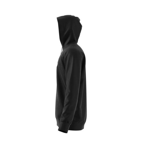 sportshock ADIDAS originals felpa con cappuccio trefoil nero uomo d