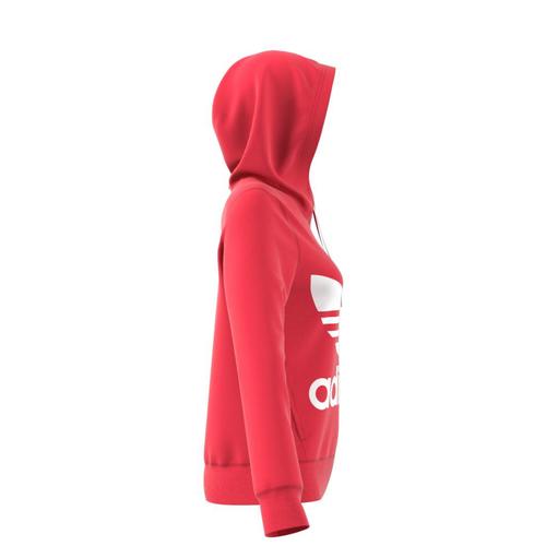 sportshock ADIDAS felpa trefoil con logo slim rosso donna dh3136 - ... c354f160401d