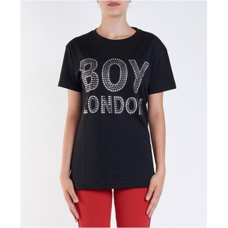 20c113aec401 SportShock Boy London T-Shirt Borchie Nero Donna BLD1722