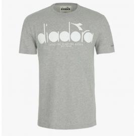 Diadora T-Shirt Logo Grigio Uomo