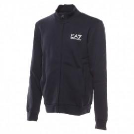 EA7 Felpa Con Cerniera Zip Blu Uomo