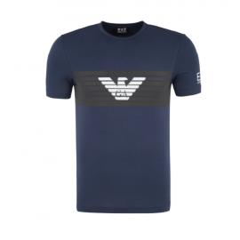 EA7 T-Shirt Logo Aquila Blu Uomo