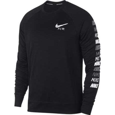Nike Maglia Running Manica Lunga Performance Pacer Plus Blu Nero Uomo