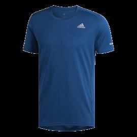 Adidas Maglia Running Manica Corta Blu Uomo