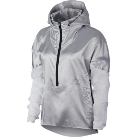 5c1a70fc82 Running Nike Giacca A Vento Running Tech Pack Grigio Bianco Donna A...