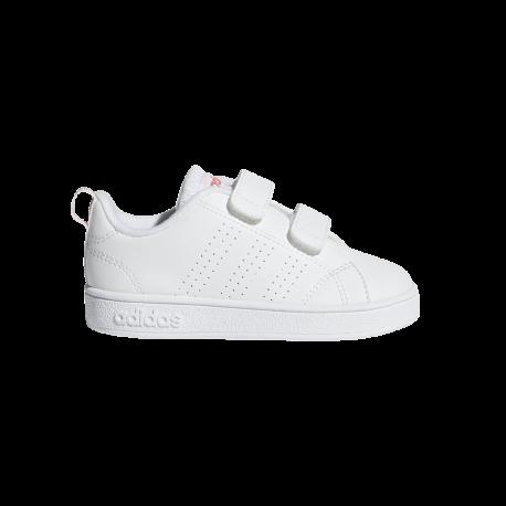 Adidas VS Advantage Clean Infant Bianco Rosa Bambino
