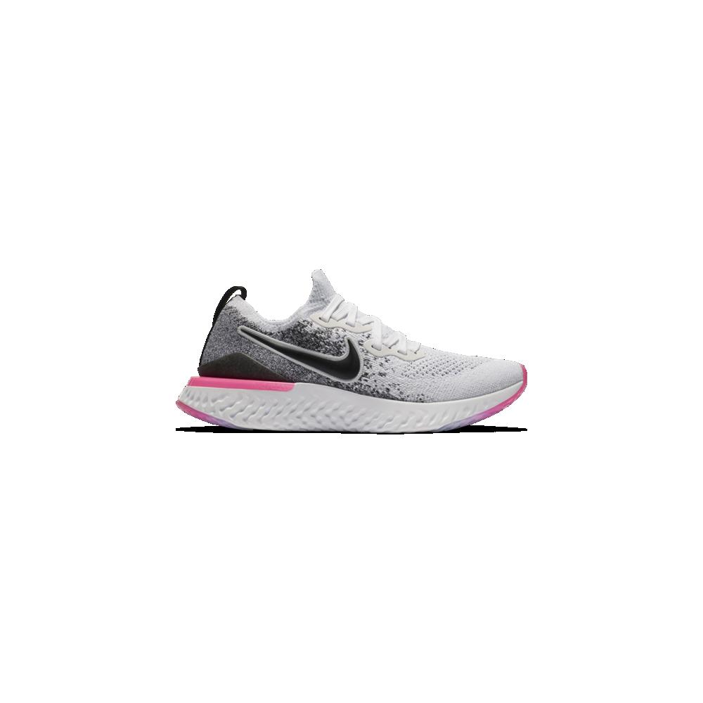 Running Nike Scarpe Running Epic React Flyknit 2 Bianco Nero