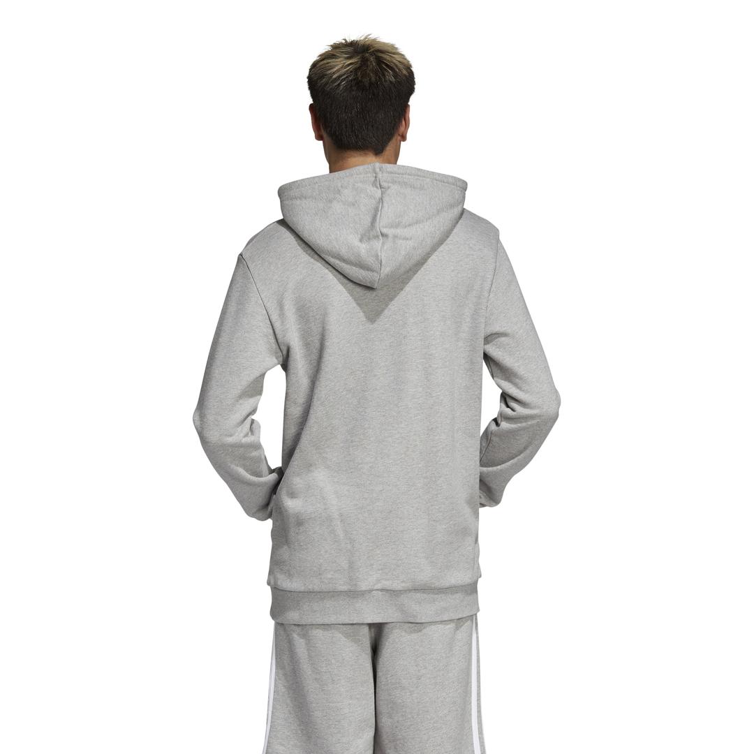 sportshock ADIDAS originals felpa con cappuccio trefoil grigio uomo