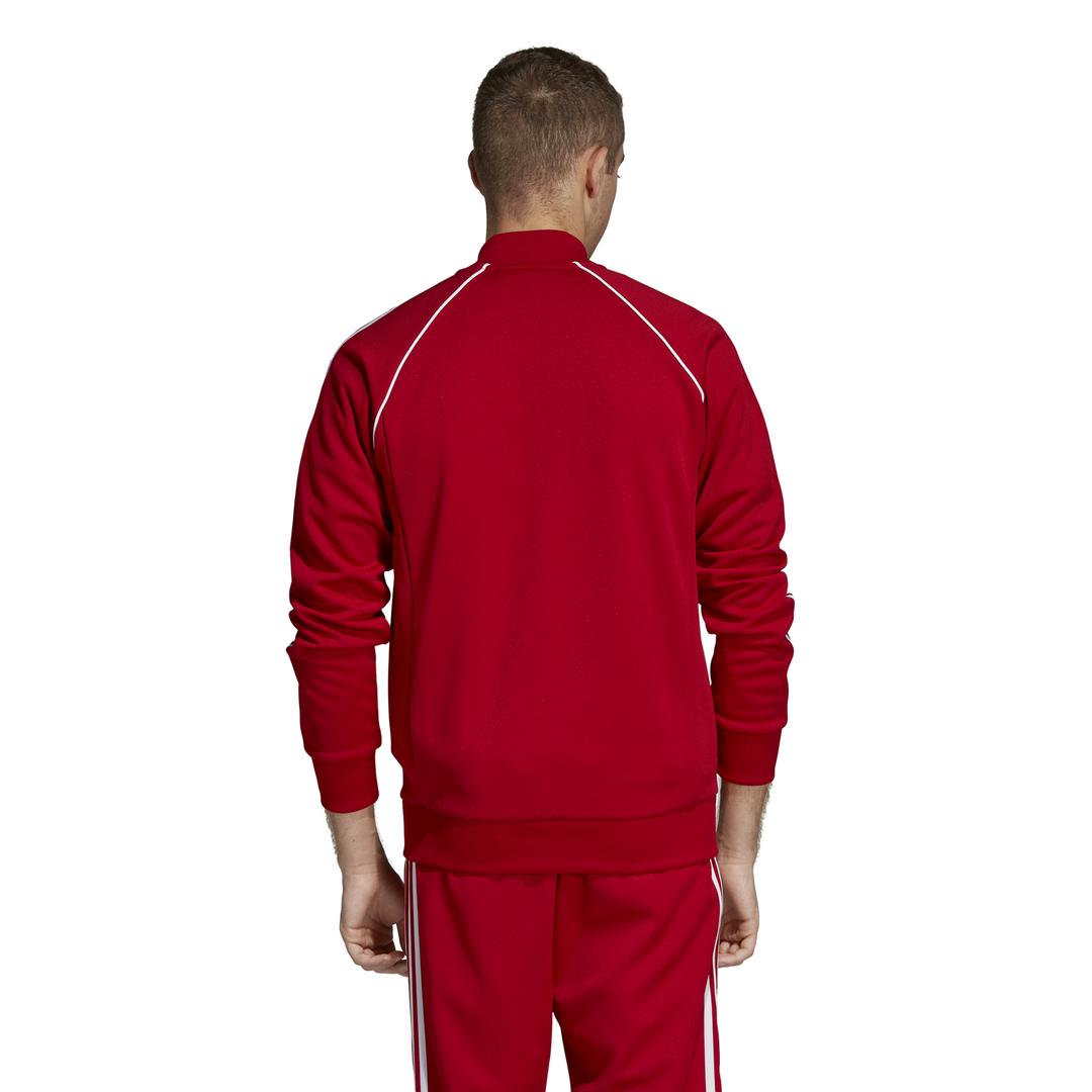 felpa adidas rossa uomo zip