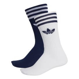 Adidas Originals Calze Solid Crew 2 PP Blu Bianco Uomo