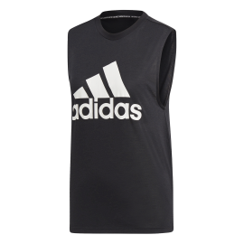 ADIDAS canotta must have badge of sport nero bianco donna