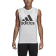 ADIDAS canotta must have badge of sport bianco nero donna