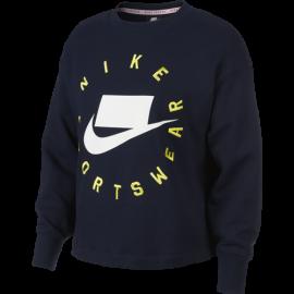 Nike Sportswear Maglia Manica Lunga French Terry Nero Donna