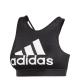 ADIDAS reggiseno sportivo halter logo 2.0 nero donna