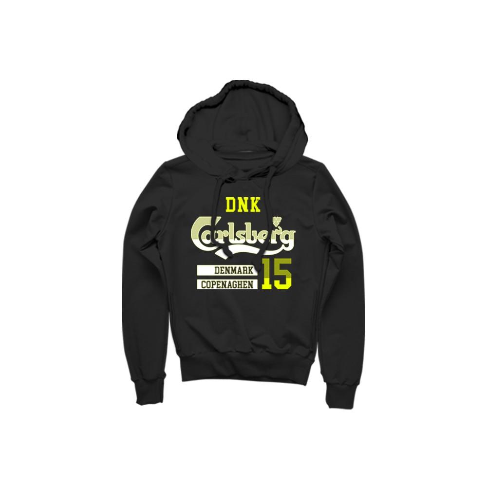 Carlsberg Felpa con cappuccio grigio giallo