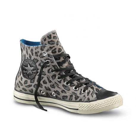 SCARPA W ALL STAR HI SUEDE PRINT (31) GREY DUST ANIMAL