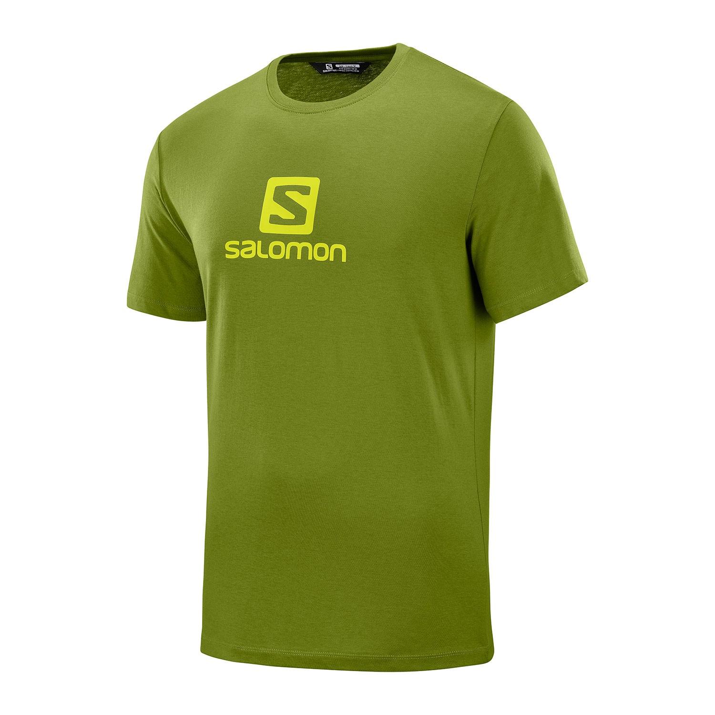 Trekking Salomon Maglia Trekking Coton Logo Verde Uomo LC1052300