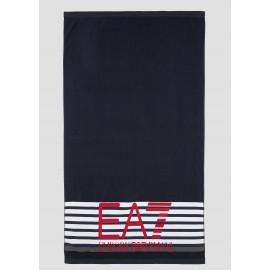 Ea7 Telo Mare Righe Blu Unisex