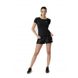 Ea7 T-Shirt Mare Fantasia Nero Donna