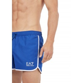 Ea7 Costume Boxer Corto Blu Uomo