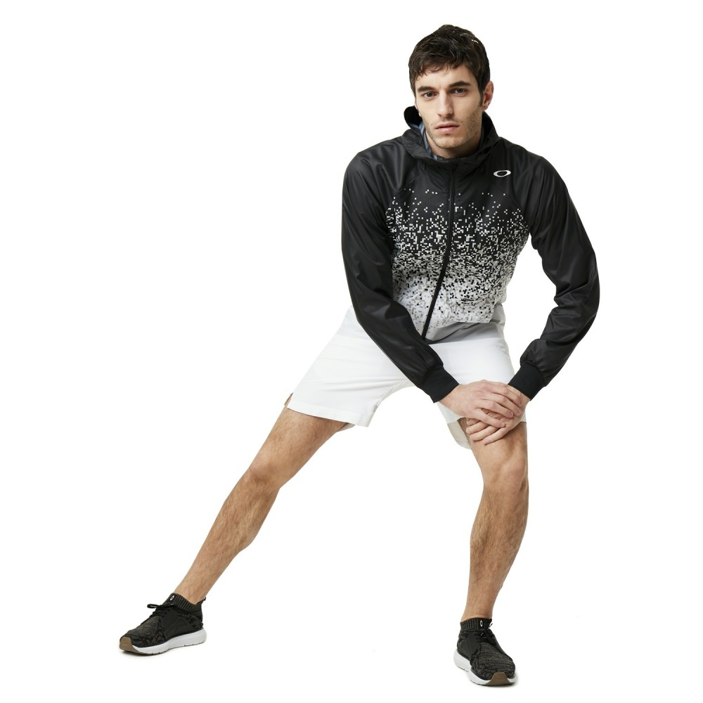 SportShock Oakley Giacca A Vento Pixel Bianco Nero Uomo